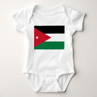 Bandeira nacional do mundo de Jordão Body Para Bebê