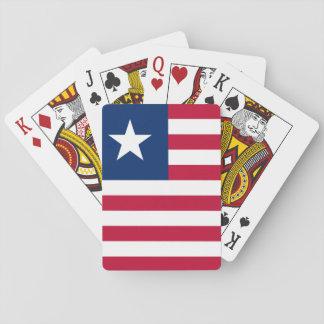 Bandeira nacional do mundo de Liberia Baralho