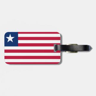 Bandeira nacional do mundo de Liberia Etiqueta De Bagagem