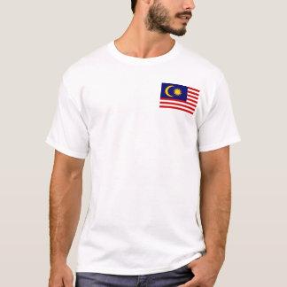 Bandeira nacional do mundo de Malaysia Camiseta