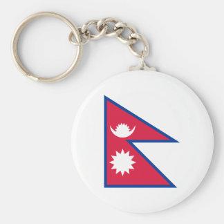 Bandeira nacional do mundo de Nepal Chaveiro