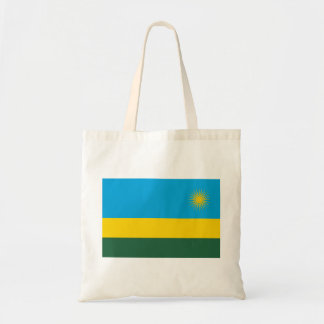 Bandeira nacional do mundo de Rwanda Bolsa Tote