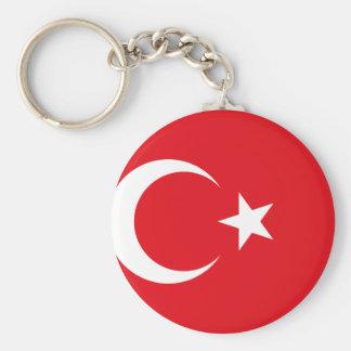 Bandeira nacional do mundo de Turquia Chaveiro