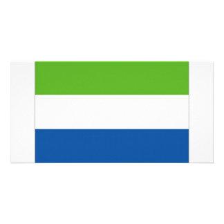 Bandeira nacional do Sierra Leone Cartoes Com Fotos Personalizados