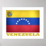 Bandeira nacional venezuelana poster