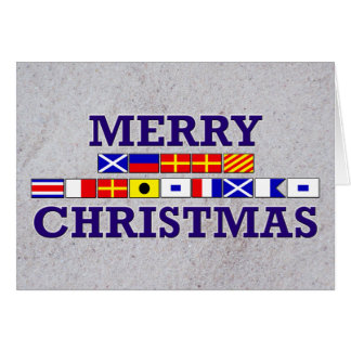 Bandeira náutica - cartão de Natal de Sandy