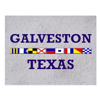 Bandeira náutica de Galveston - cartão da areia