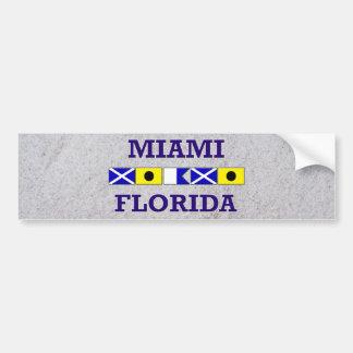 Bandeira náutica de Miami - areia Bumpersticker Adesivo Para Carro