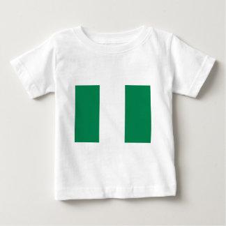 Bandeira nigeriana camiseta para bebê