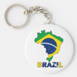 Bandeira no mapa de Brasil Chaveiro