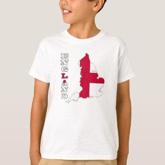 Bandeira no mapa de Inglaterra T-shirts