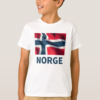 Bandeira norueguesa camiseta