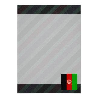 Bandeira oficial de Afeganistão em listras Convite 12.27 X 17.78cm