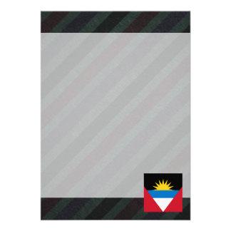 Bandeira oficial de Antígua e de Barbuda em Convite 12.27 X 17.78cm