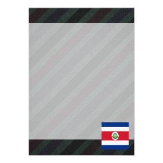 Bandeira oficial de Costa Rica em listras Convite 12.27 X 17.78cm