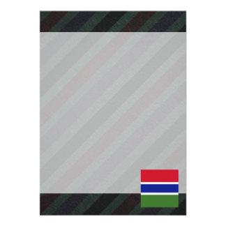 Bandeira oficial de Gambia em listras Convite 12.27 X 17.78cm