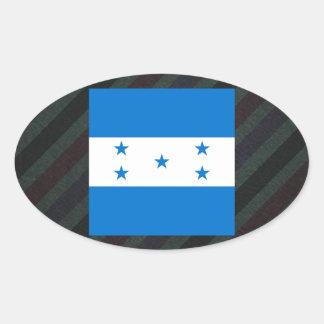 Bandeira oficial de Honduras em listras Adesivo Oval