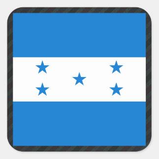 Bandeira oficial de Honduras em listras Adesivo Quadrado