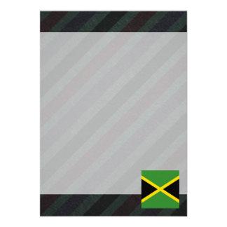 Bandeira oficial de Jamaica em listras Convite 12.27 X 17.78cm