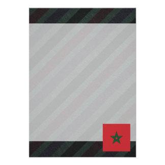 Bandeira oficial de Marrocos em listras Convite 12.27 X 17.78cm