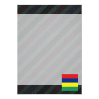 Bandeira oficial de Maurícia em listras Convite 12.27 X 17.78cm