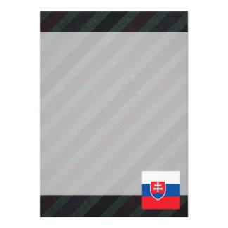 Bandeira oficial de Slovakia em listras Convite 12.27 X 17.78cm