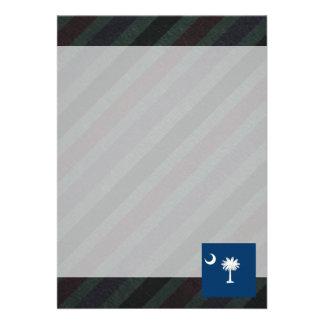 Bandeira oficial de South Carolina em listras Convite 12.27 X 17.78cm
