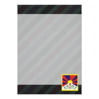 Bandeira oficial de Tibet em listras Convite 12.27 X 17.78cm