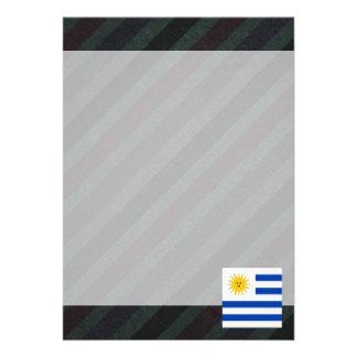 Bandeira oficial de Uruguai em listras Convite 12.27 X 17.78cm