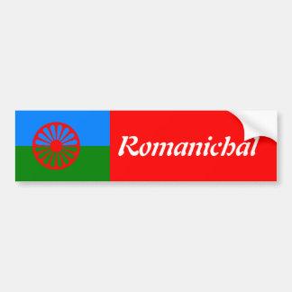 Bandeira oficial do cigano do Romani Adesivo Para Carro