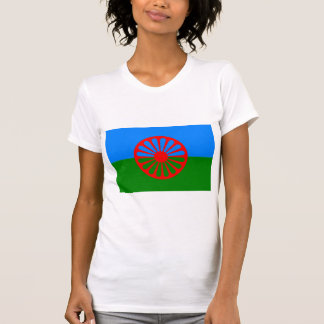 Bandeira oficial do cigano do Romani T-shirts