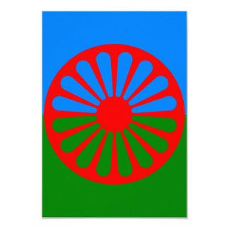 Bandeira oficial do cigano do Romani Convite 8.89 X 12.7cm