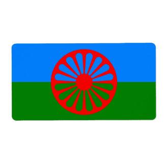 Bandeira oficial do cigano do Romani Etiqueta De Frete