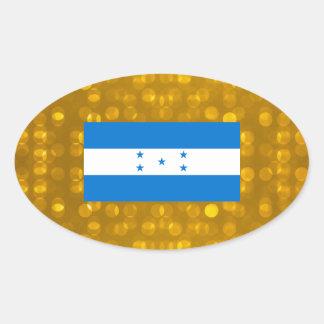 Bandeira oficial do Honduran Adesivo Oval