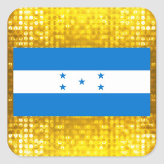 Bandeira oficial do Honduran Adesivo Quadrado