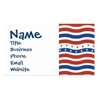 Bandeira ondulada patriótica da liberdade da cartão de visita