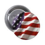 Bandeira orgulhosa e patriótica dos EUA Boton