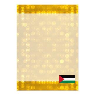 Bandeira palestina oficial convite 12.27 x 17.78cm