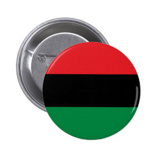 Bandeira pan-Africano preta e verde vermelha de Bóton Redondo 5.08cm