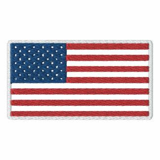 Bandeira patriótica americana dos EUA Camiseta Bordada Polo