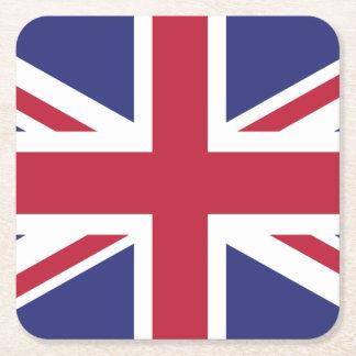 Bandeira patriótica de Reino Unido Porta-copo De Papel Quadrado