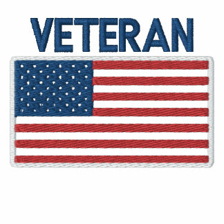 Bandeira patriótica do veterano americano dos EUA Camiseta Bordada Polo