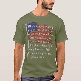 Bandeira patriótica e a declaração de camiseta