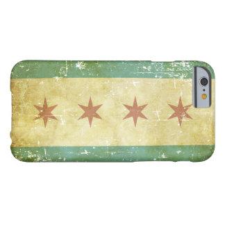 Bandeira patriótica gasta de Chicago Capa Barely There Para iPhone 6