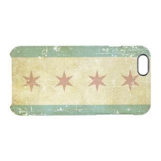 Bandeira patriótica gasta de Chicago Capa Para iPhone 6/6S Transparente