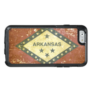 Bandeira patriótica gasta do estado de Arkansas