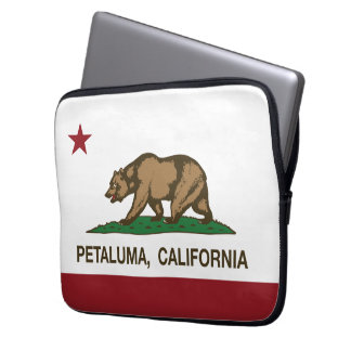 Bandeira Petaluma do estado de Califórnia Capas Para Laptop