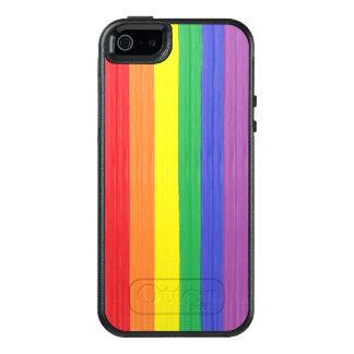 Bandeira pintada do arco-íris