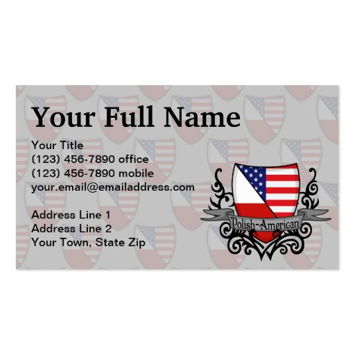 Bandeira Polimento-Americana do protetor Modelo Cartoes De Visitas