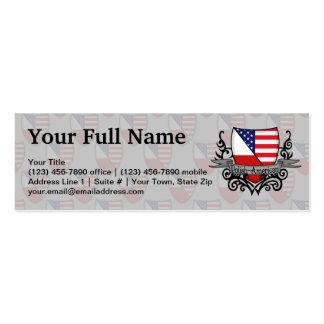 Bandeira Polimento-Americana do protetor Cartoes De Visitas